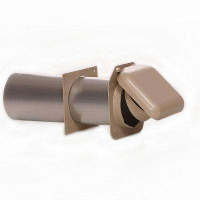 No-Pest Vent 4 in. Low Profile Dual Door Wall Vent in Tan