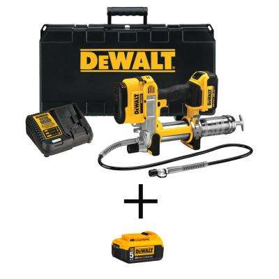 20-Volt MAX XR Lithium-Ion Cordless Grease Gun Kit with Free 20-Volt 5.0Ah Battery