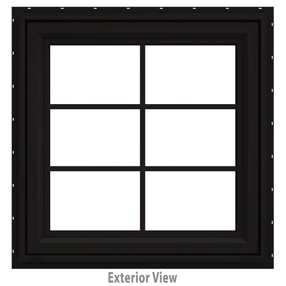 29.5 in. x 29.5 in. V-4500 Series Awning Vinyl Window with