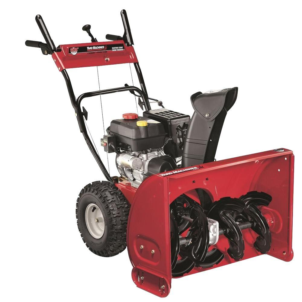 Yard Machines 28 in. 277cc 2-Stage Electric Start Gas Snow Blower