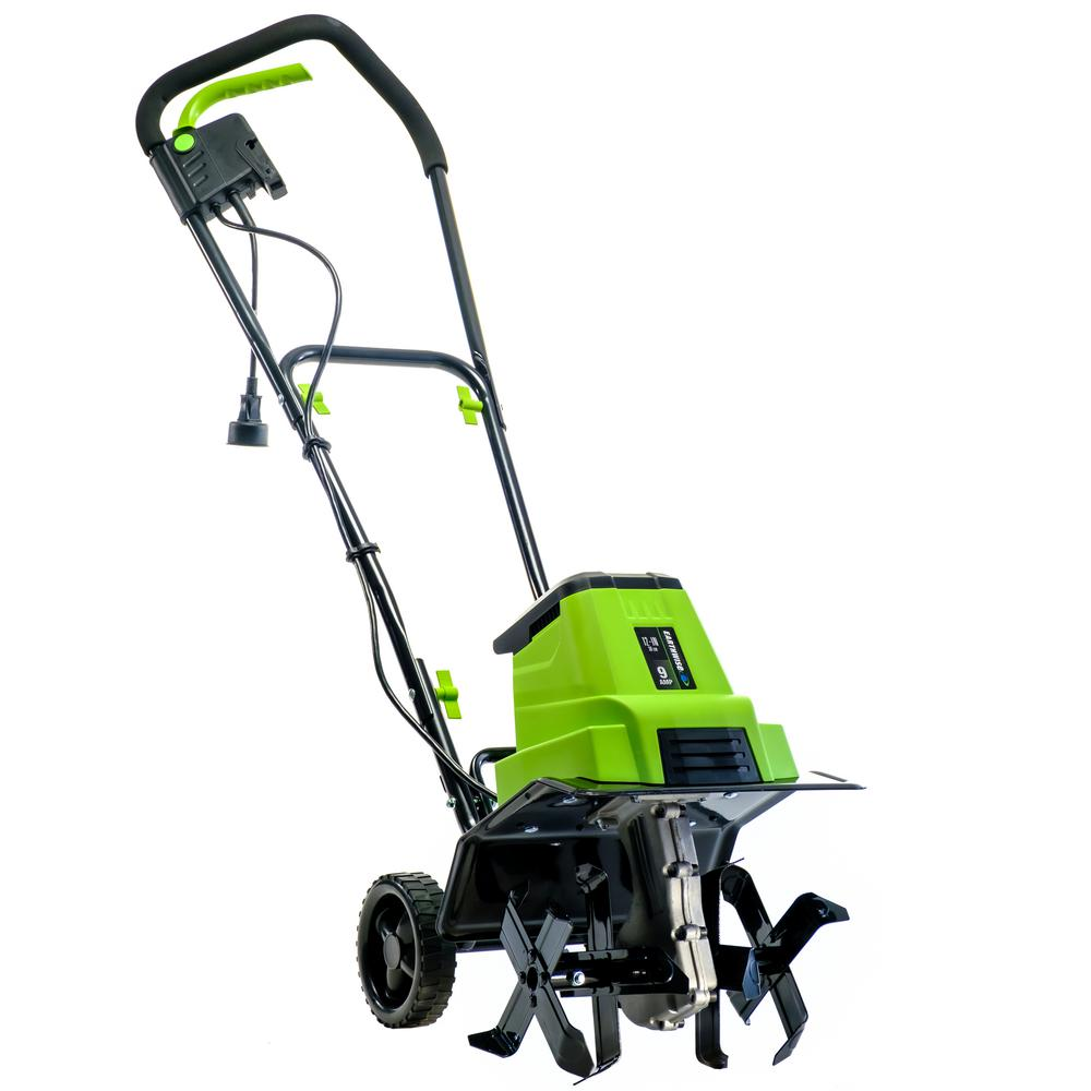 Earthwise 12 In 9 Amp Corded Electric Tiller Cultivator Tc70090 The Home Depot
