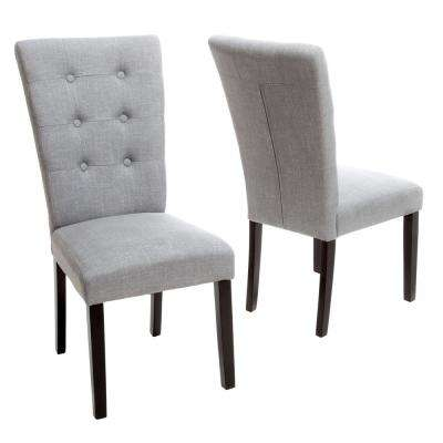 Angelina Grey Fabric Dining Chairs Set Of 2