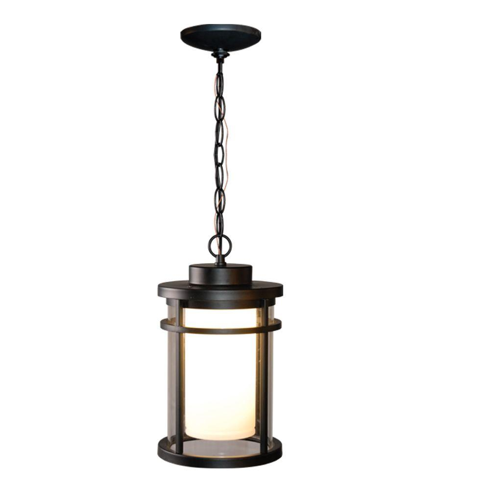 Home decorators collection black outdoor led hanging light for Hanging outdoor light fixtures