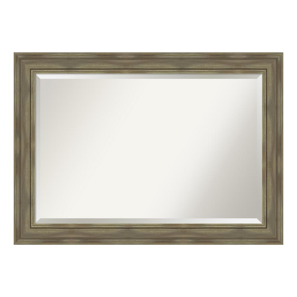 Amanti Art Alexandria Greywash Bathroom Vanity Mirror DSW4094436