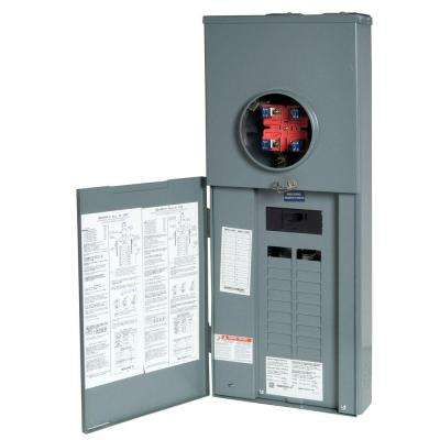Homeline 150 Amp 20-Space 40-Circuit Outdoor Ringless-Horn Overhead/Underground Main Breaker CSED