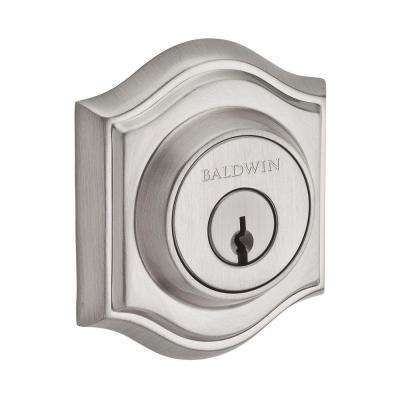 Reserve Traditional Satin Nickel Single Cylinder Arch Deadbolt