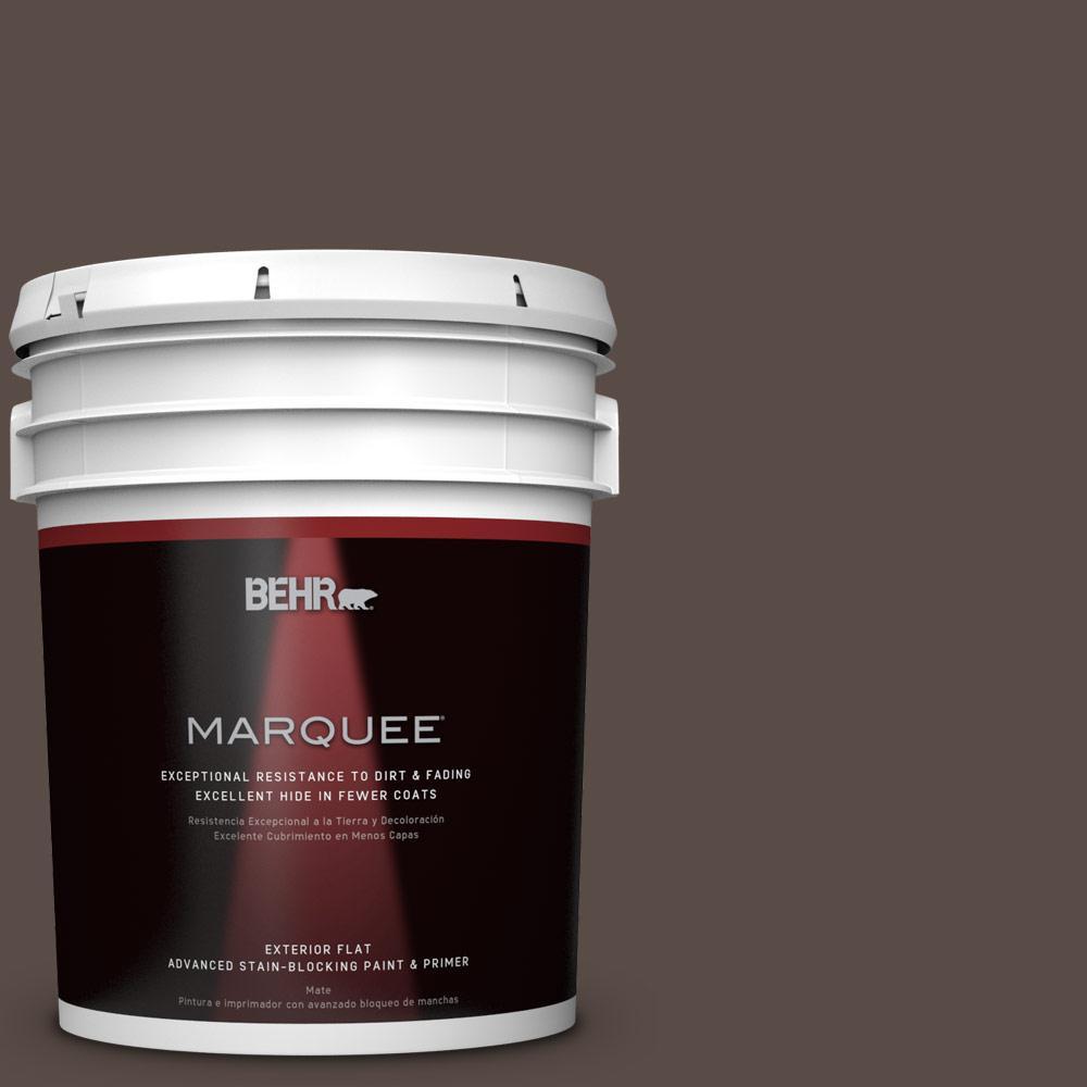 5-gal. #PPU5-19 Dark Truffle Flat Exterior Paint