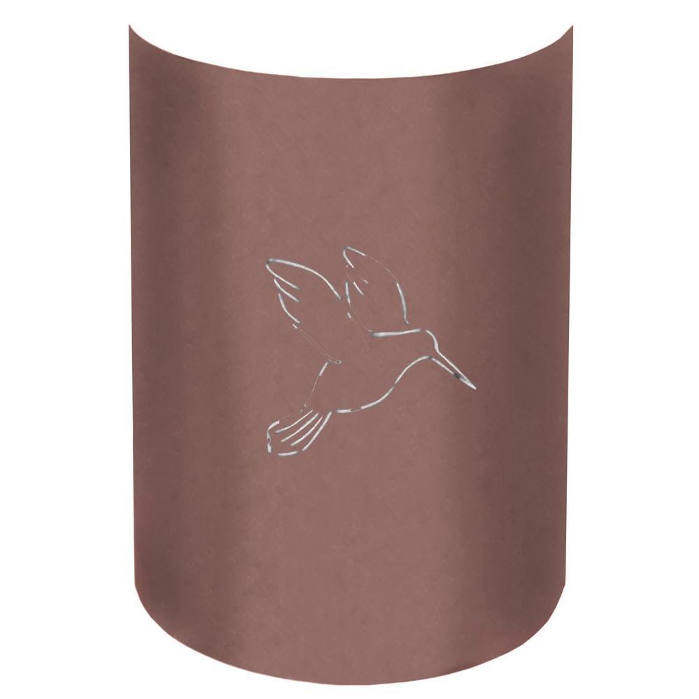 Filament Design Aspen 1-Light Outdoor Copper Canyon Hummingbird Wall Sconce