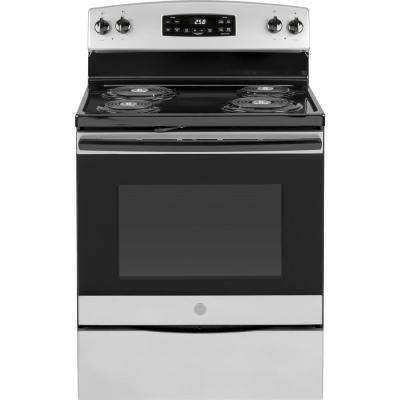 30 in. 5.3 cu. ft. Electric Range with Self-Cleaning Oven in Silver