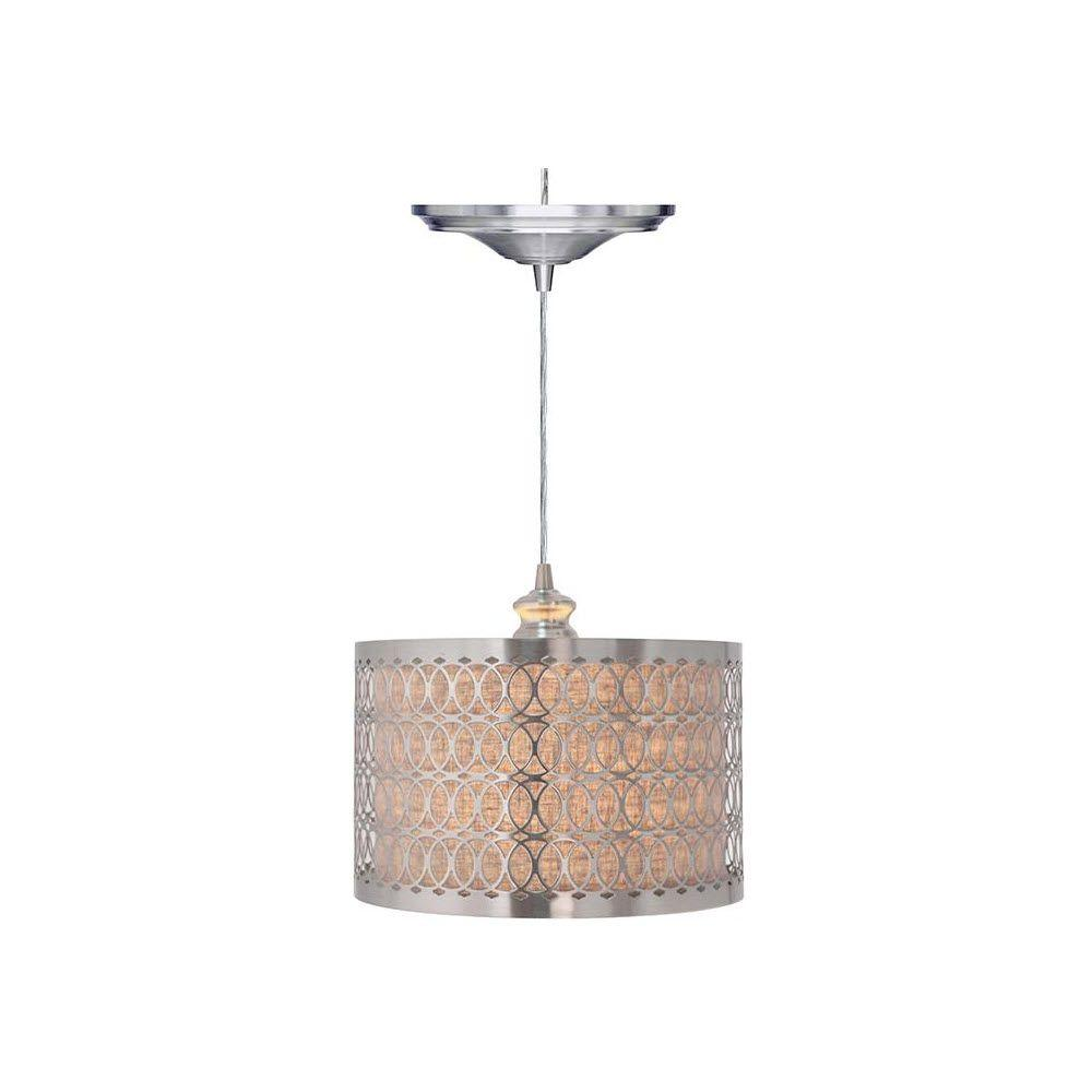 Home Decorators Collection Bella 1 Light Brushed Nickel