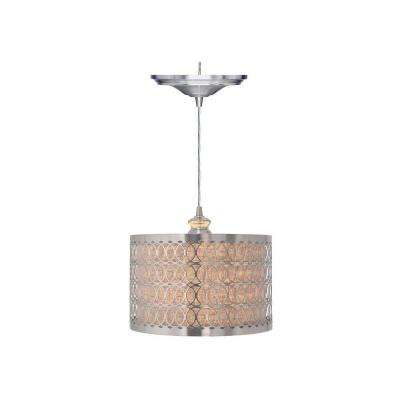 Bella 1-Light Brushed Nickel Pendant with Hardwire