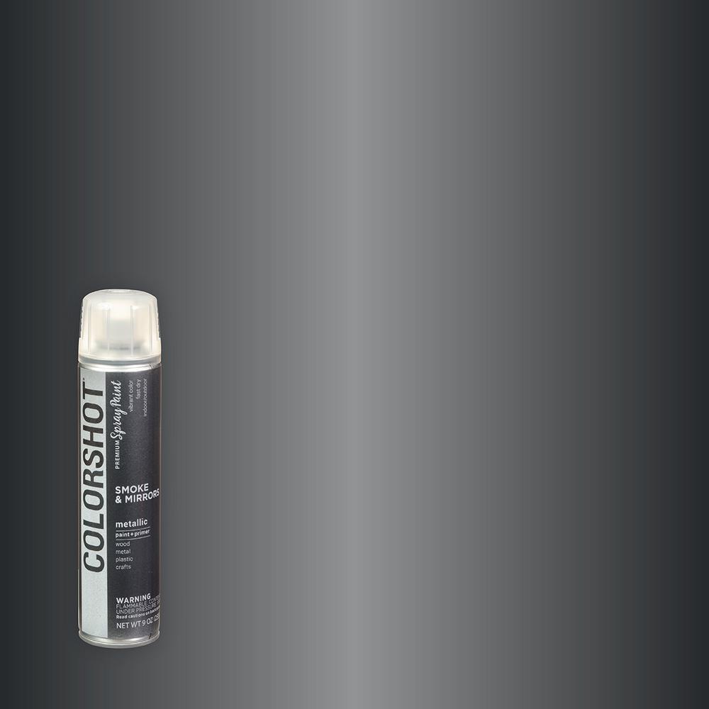 COLORSHOT 9 oz. Metallic Smoke & Mirrors Dark Silver General Purpose Aerosol Spray Paint