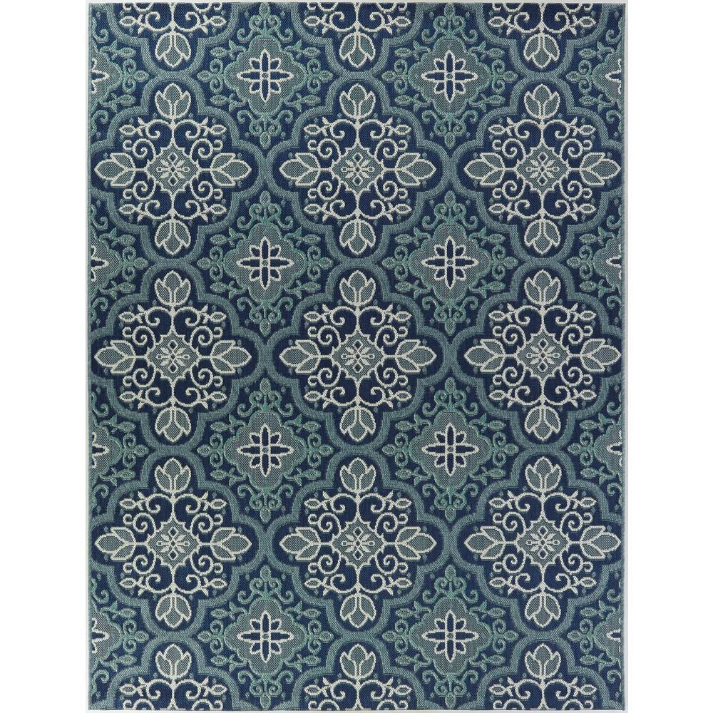 Star Moroccan Blue 5 ft. x 7 ft. Indoor/Outdoor Area Rug