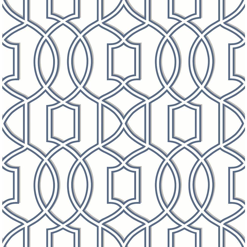 Quantum Blue Trellis Wallpaper