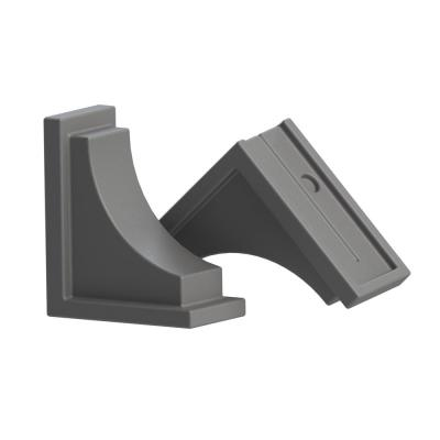 Graphite Grey Resin Nantucket Decorative Brackets (2-Pack)
