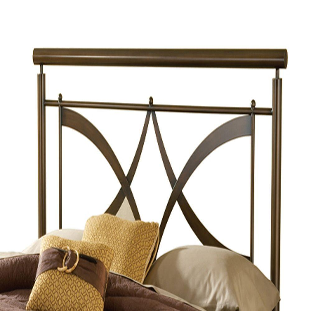 Hillsdale Furniture Marquette Brushed Copper King Headboard with Rails-DISCONTINUED