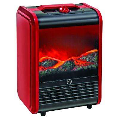 1,500-Watt Fireplace Style Ceramic Electric Portable Heater