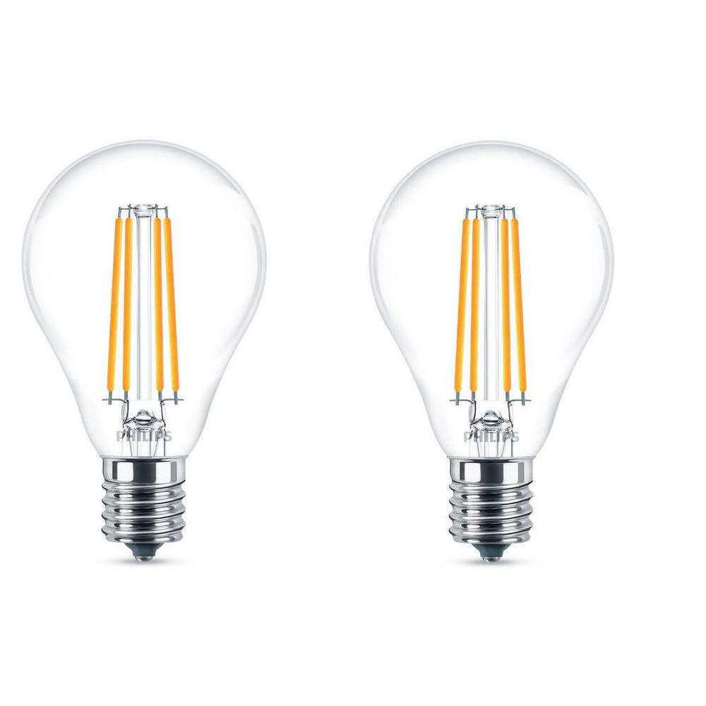 Light Bulb Home Depot: Philips 60W Equivalent Daylight A15 Dimmable LED Light