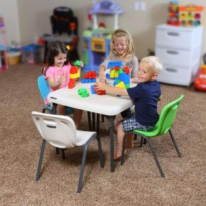 Miraculous Lifetime Almond Stacking Kids Chair Set Of 4 80383 The Camellatalisay Diy Chair Ideas Camellatalisaycom