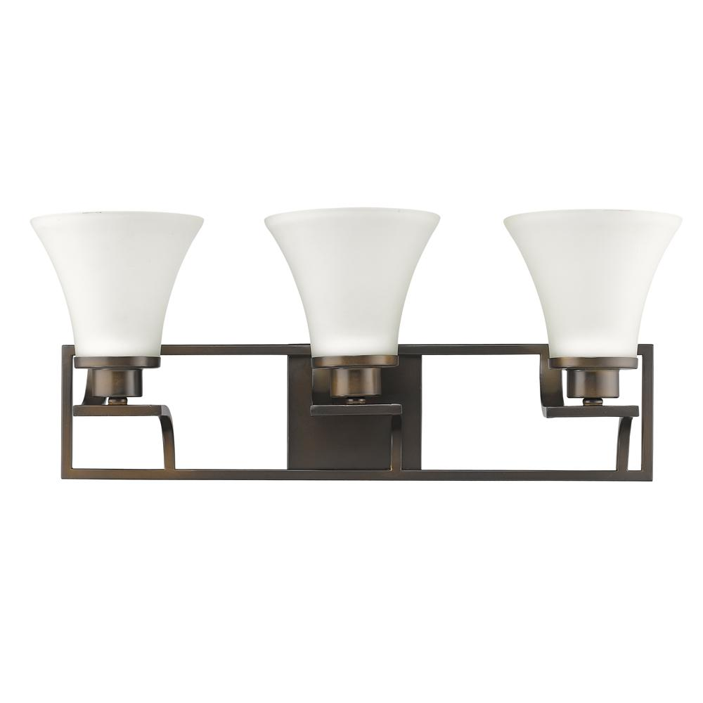 Acclaim Lighting Mia 3-Light Oil-Rubbed Bronze Vanity Light with Etched Glass Shades