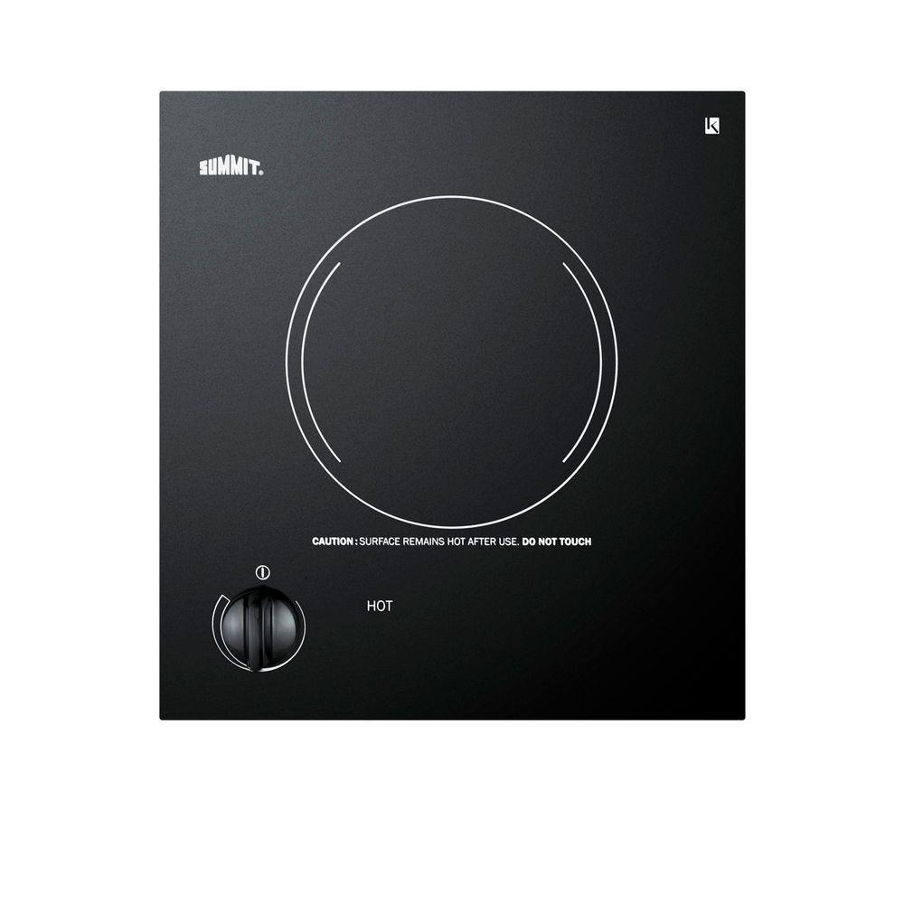 12 in. Radiant Electric Cooktop in Black with 1 Element