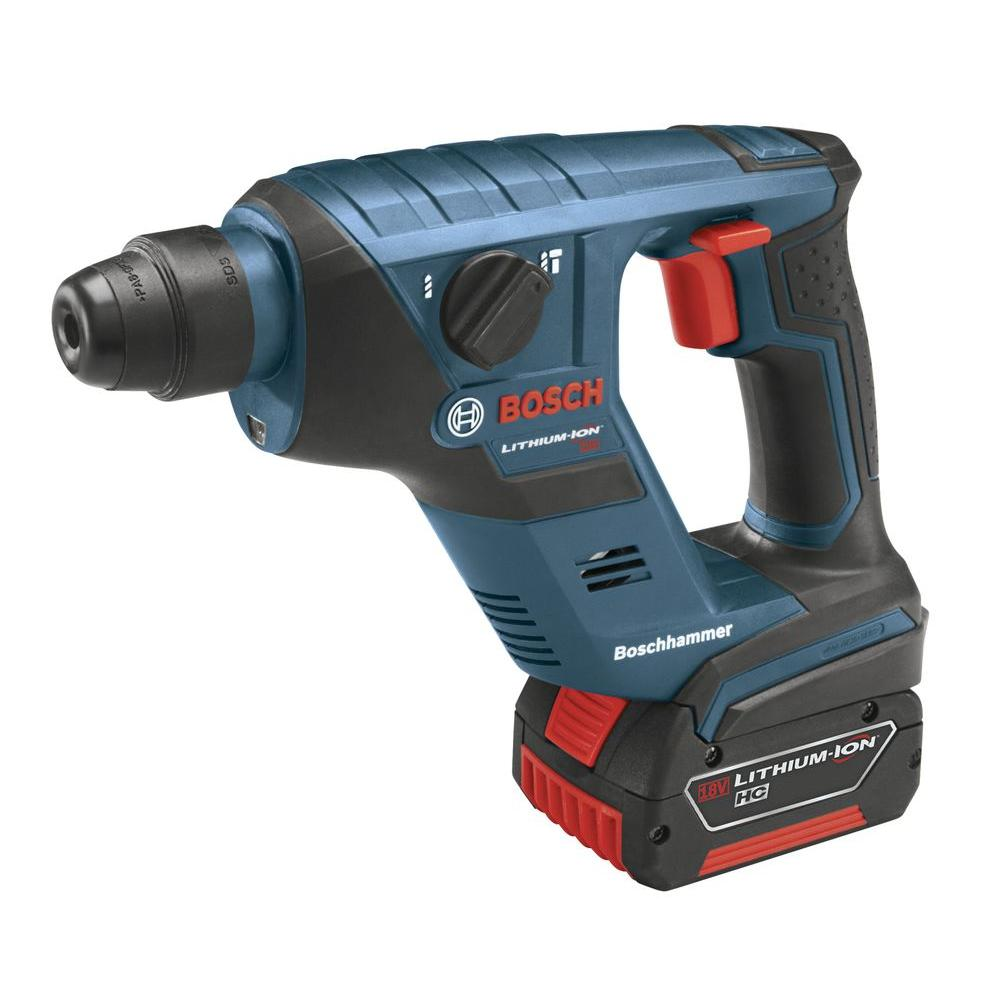Bosch 18-Volt Compact Rotary Hammer with (1) 4.0Ah FatPack Battery