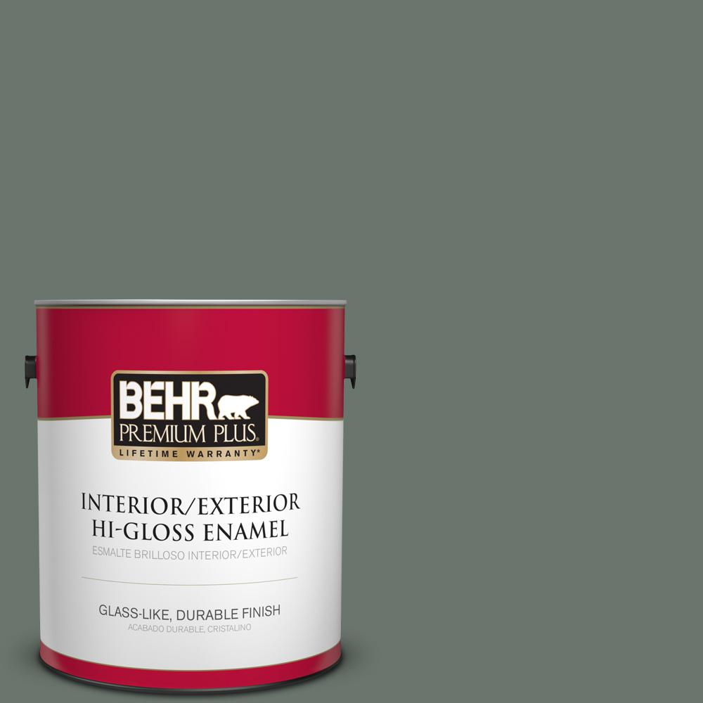 1 gal. #PPU12-18 Heritage Park Hi-Gloss Enamel Interior/Exterior Paint