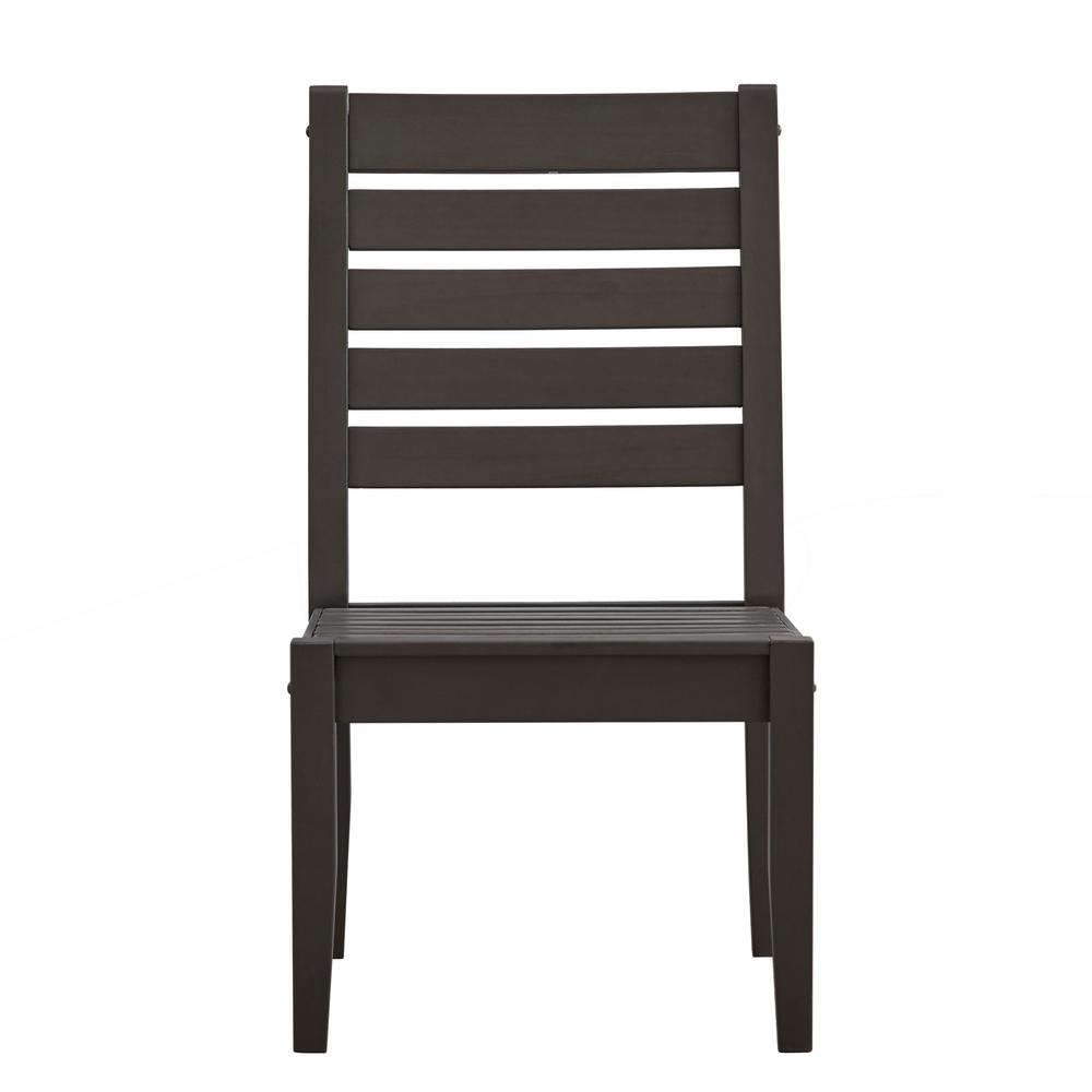HomeSullivan Verdon Gorge Gray Wood Outdoor Dining Chair
