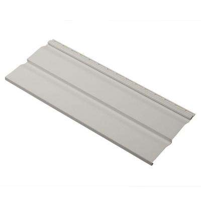 Dimensions Double 4.5 in. x 24 in. Dutch Lap Vinyl Siding Sample in Pewter