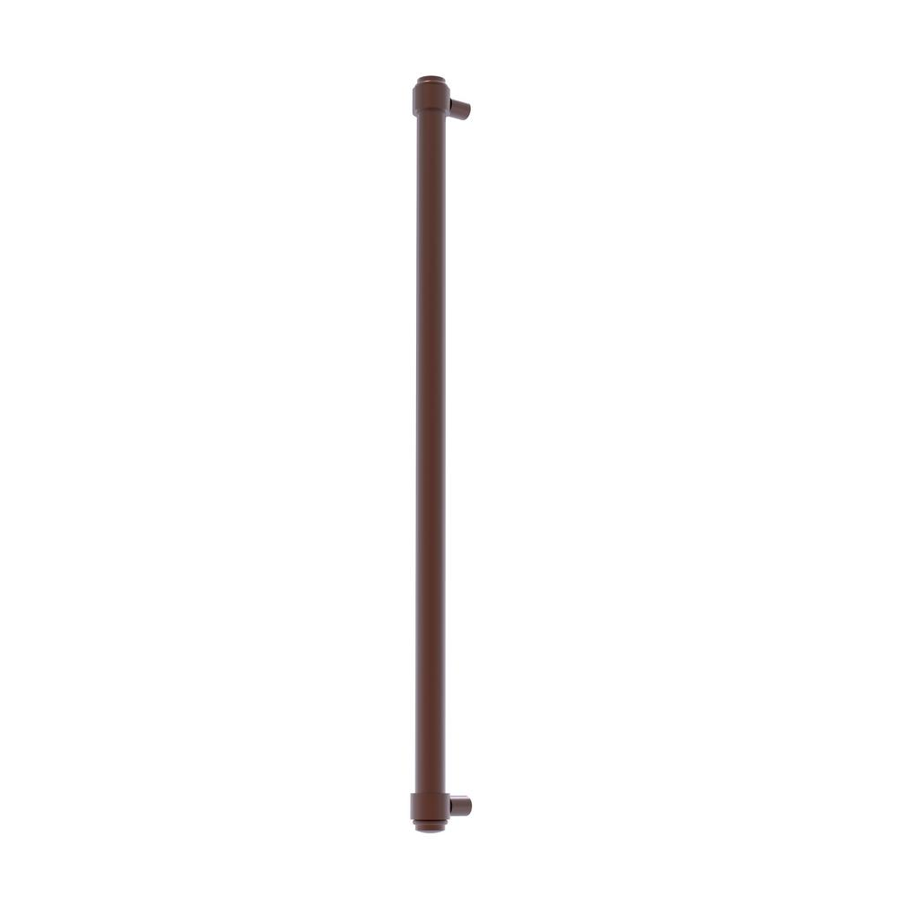 Allied Brass 18 in. Center-to-Center Refrigerator Pull in Antique Copper Transform your kitchen with this elegant Refrigerator and Appliance Pull. This pull is designed for replacing the pulls or handles on your built-in refrigerator, freezer or any other built in appliance. Appliance pull is made of solid brass and provided with a lifetime finish to insure products will provide a lifetime of service.