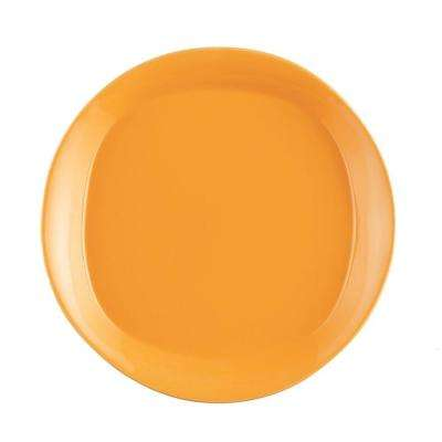 Round and Square 4-Piece Salad Plate Set in Lemon Zest