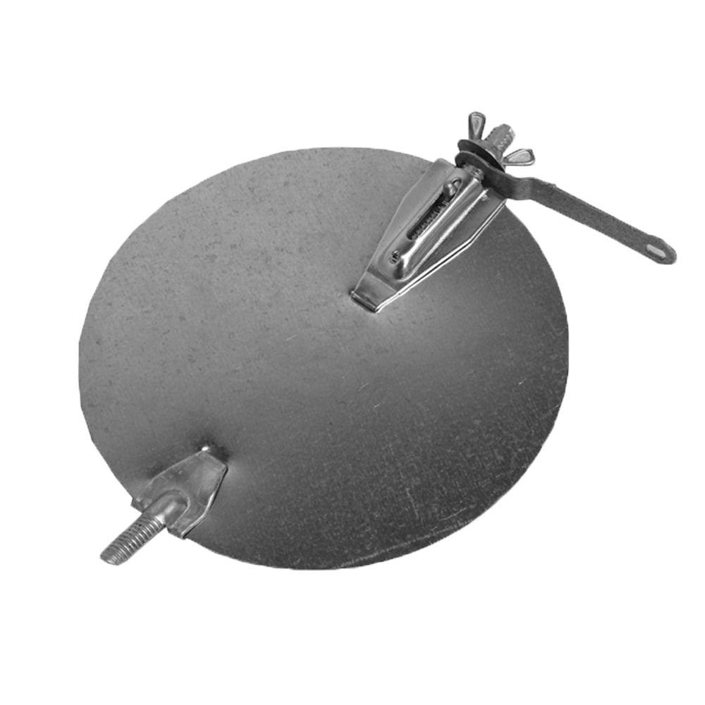 4 in. Galvanized Round Duct Volume Control Damper with Quadrant Handle