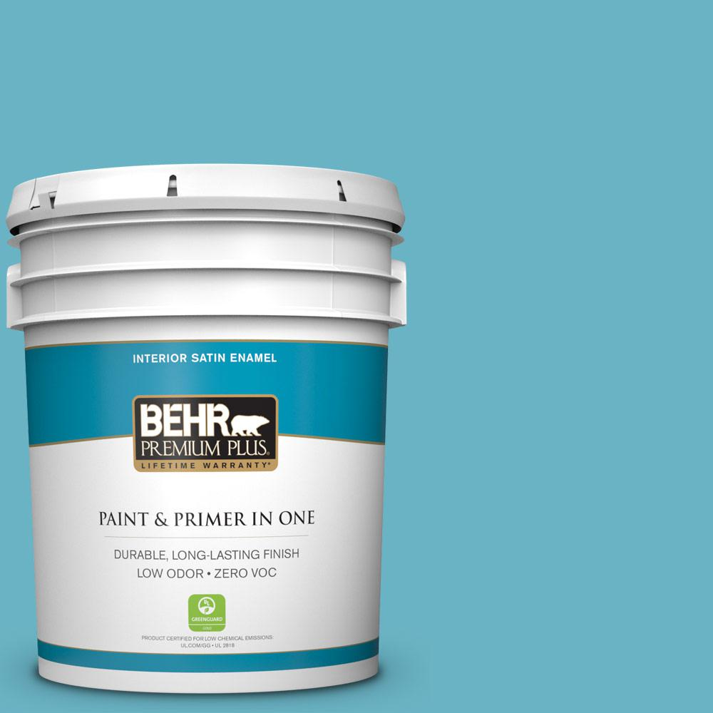 5-gal. #530D-5 Riverside Blue Zero VOC Satin Enamel Interior Paint