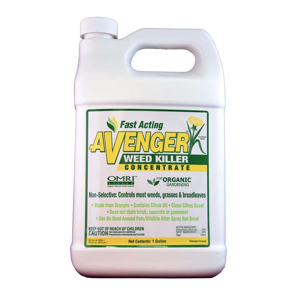 Avenger Weed Killer 128 oz. Organic Weed Killer Herbicide Concentrated