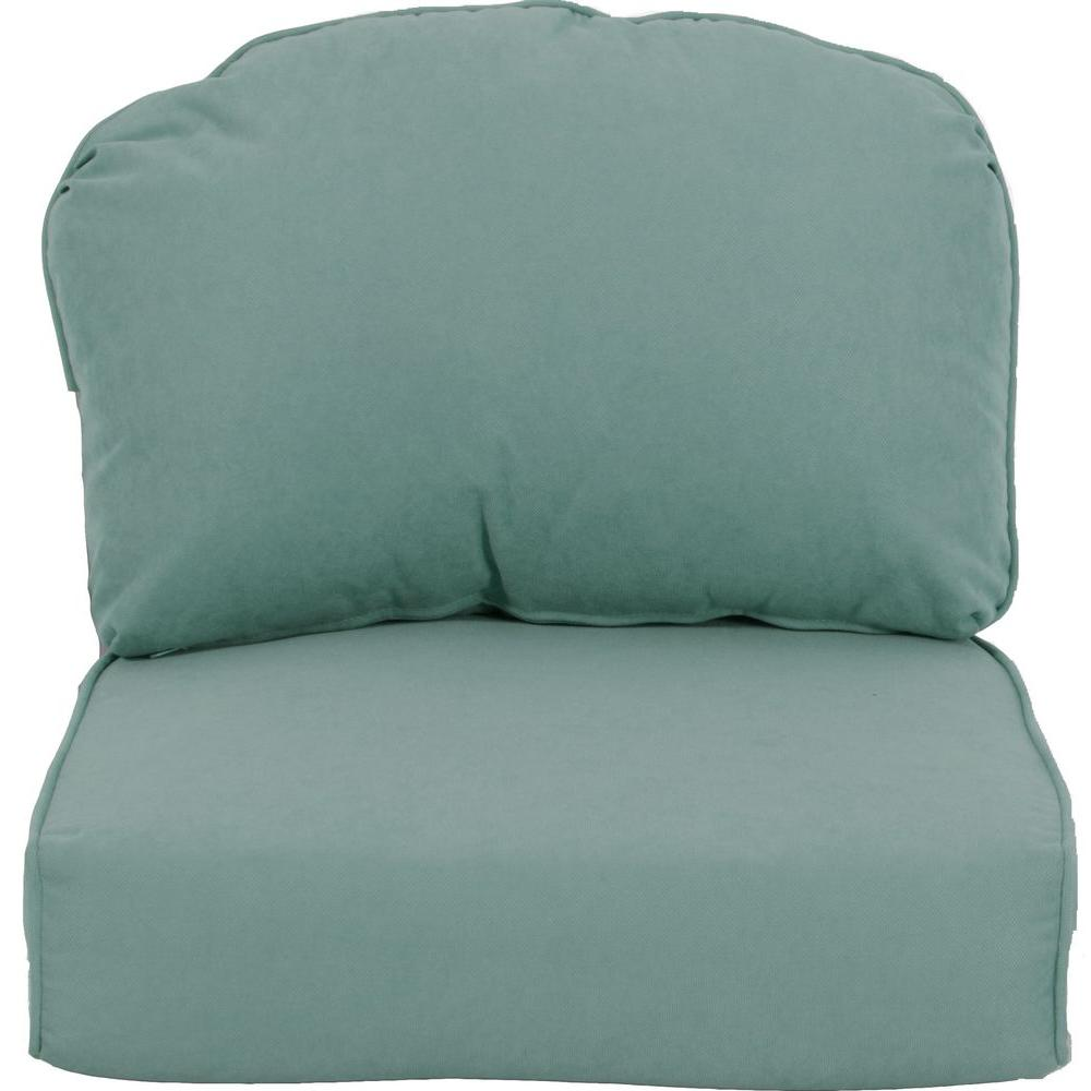 Martha Stewart Living Lily Bay-Lake Adela Surf Replacement Outdoor Lounge Chair Cushion
