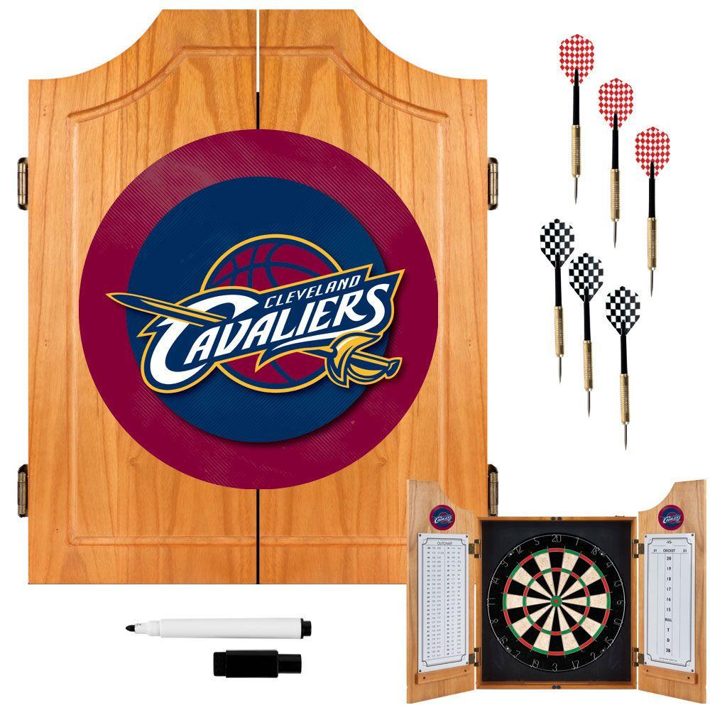 NBA Cleveland Cavaliers Wood Finish Dart Cabinet Set