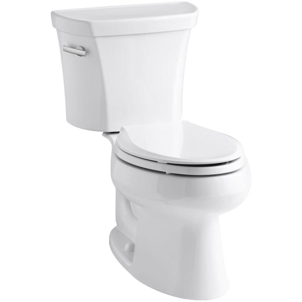 KOHLER Wellworth 2-piece 1.6 GPF Single Flush Elongated Toilet in White
