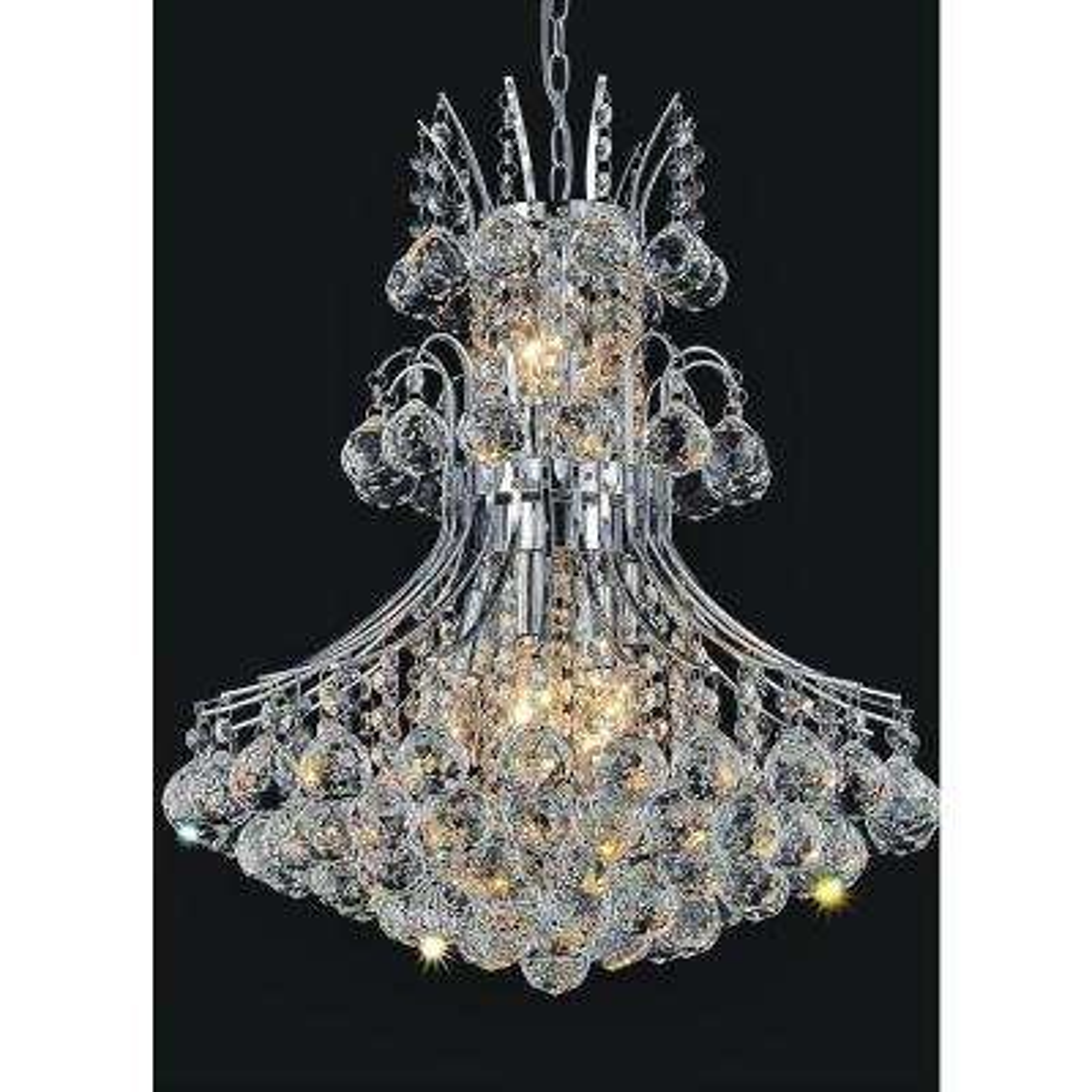 Princess 10-light chrome chandelier