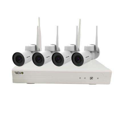 Wireless HD 4-Channel 1TB SMART NVR Surveillance System with 4 HD Pan and Tilt Wireless 1080p Bullet Cameras