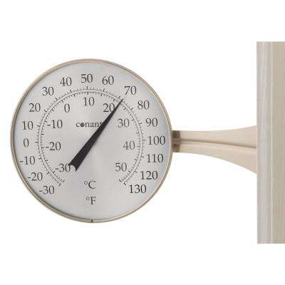 Decor Large Dial Thermometer in Satin Nickel