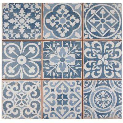 Faenza Azul 13 in. x 13 in. Ceramic Floor and Wall Tile (12.2 sq. ft. / case)