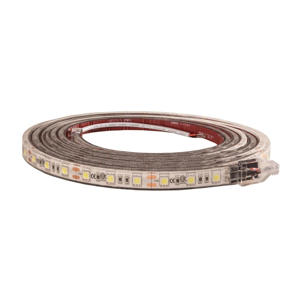 timeless design bcb56 ece49 Buyers Products Company 108 in. Clear Cool LED Strip Light with 3M Adhesive  Back