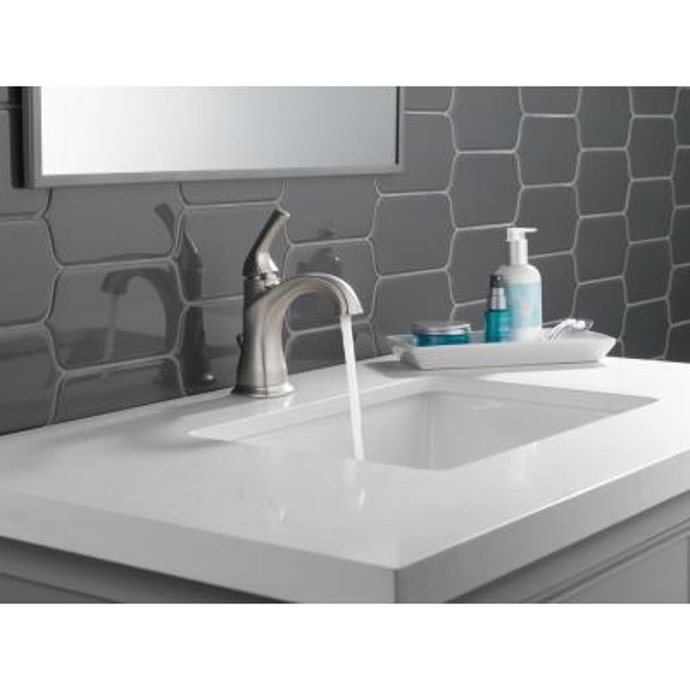Portwood Single Hole Single-Handle Bathroom Faucet in SpotShield Brushed Nickel