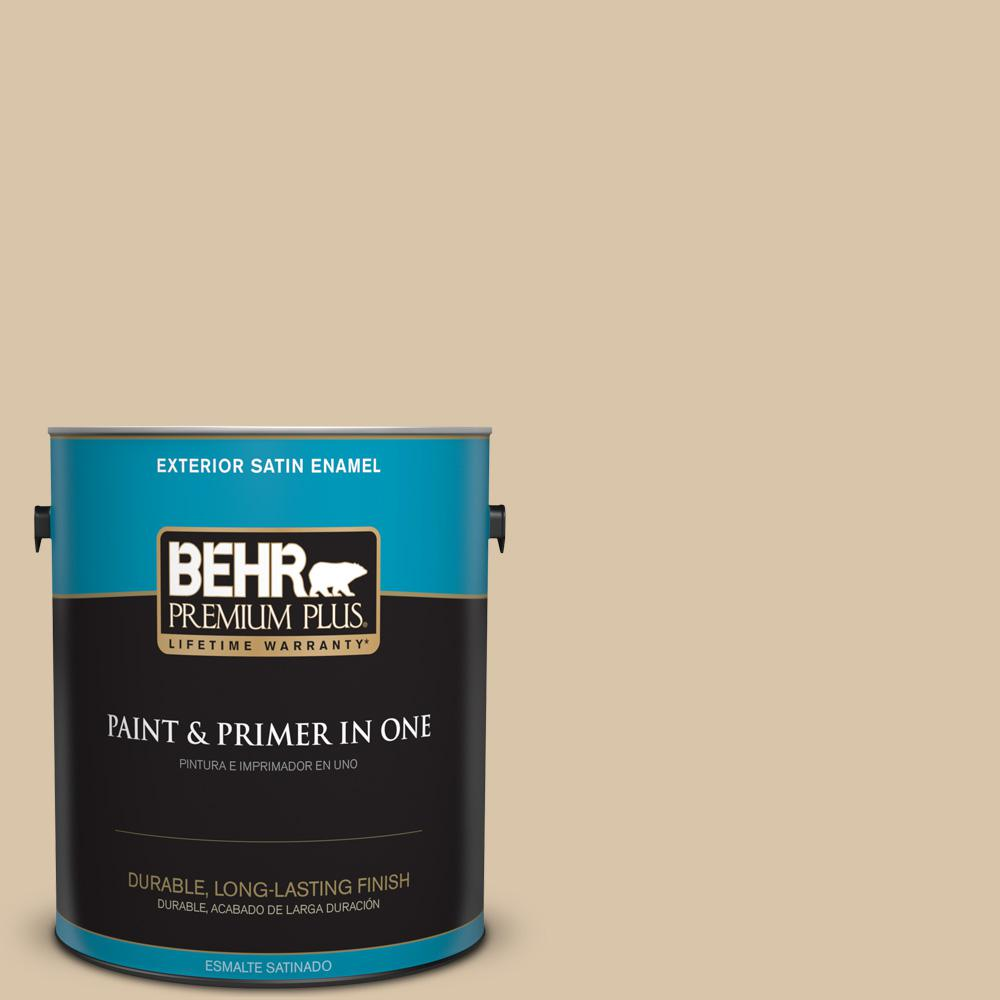 1 gal. #MQ2-23 Almond Butter Satin Enamel Exterior Paint and Primer