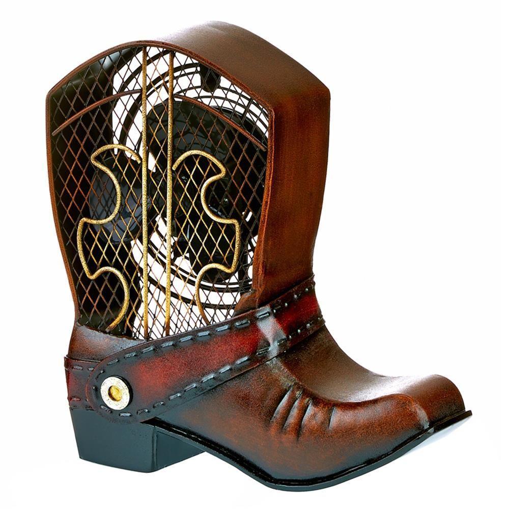 10.75 in. Cowboy Boot Figurine Fan