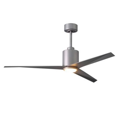 Eliza 56 in. LED Indoor/Outdoor Damp Brushed Nickel Ceiling Fan with Light with Remote Control, Wall Control