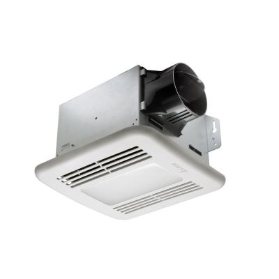 Integrity 50 CFM Ceiling Bathroom Exhaust Fan with Dimmable LED Light Fixed Humidity Sensor, ENERGY STAR