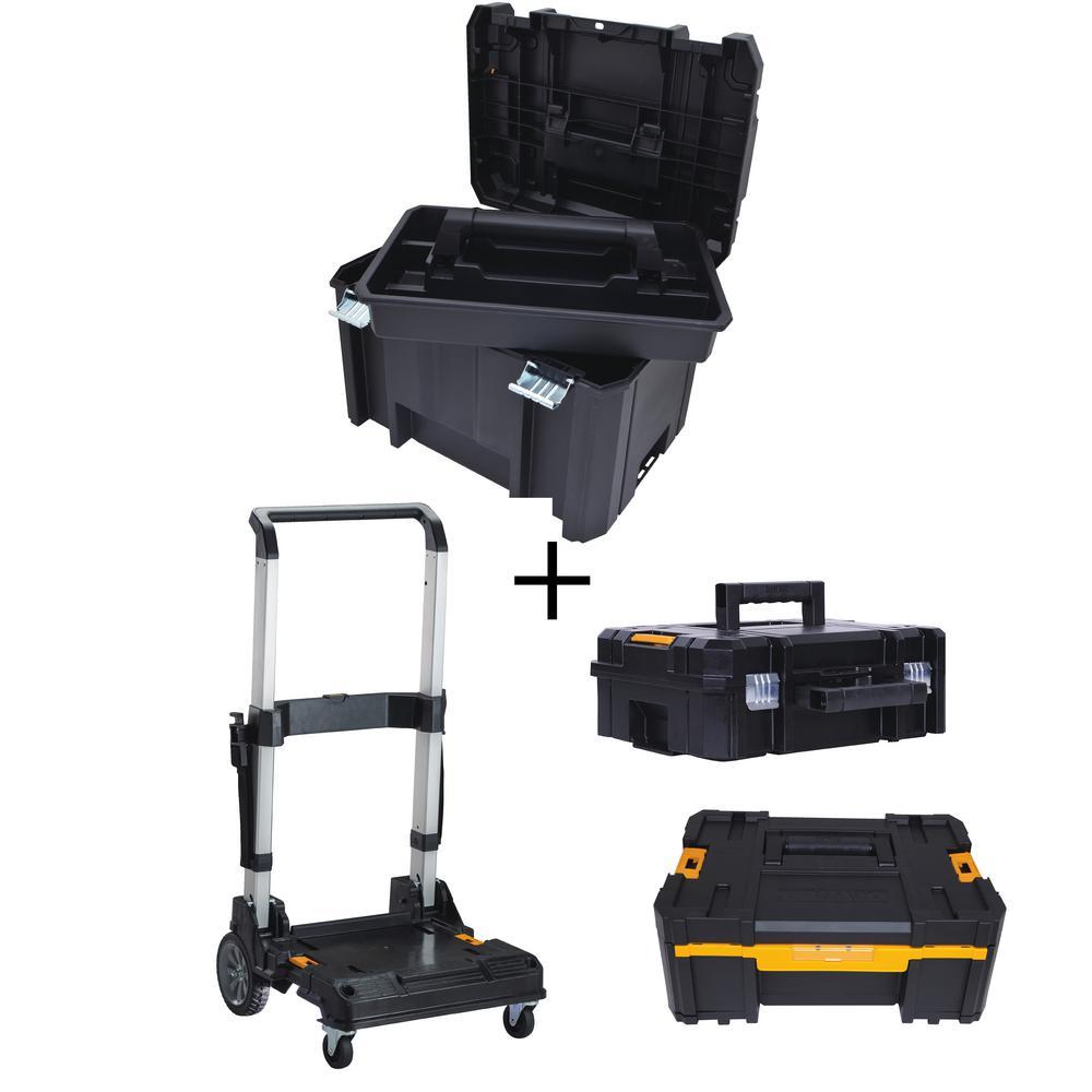 Dewalt TSTAK VI 17 inch Tool Box, TSTAK II Tool Box, TSTAK III Organizer and Trolley... by DEWALT