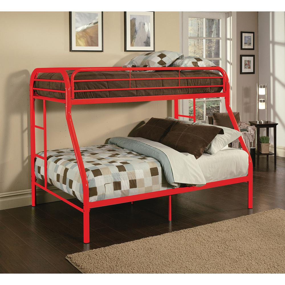 Acme Furniture Tritan Twin Over Full Metal Kids Bunk Bed 02053rd