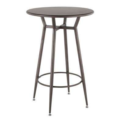 Clara Industrial Round Antique Metal Bar Table